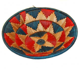 Red and Green Banana Fiber Basket