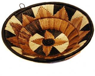 Black, Cream, and Natural Banana Fiber Basket