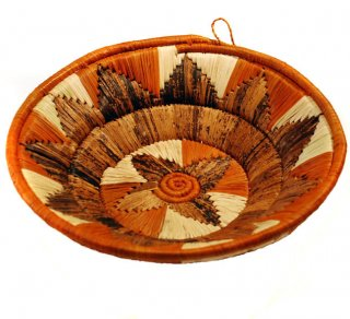 Orange, Cream, and Natural Banana Fiber Basket