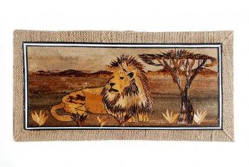 Male Lion Banana Art Hemp Border