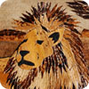 Male Lion Banana Art Hemp Border