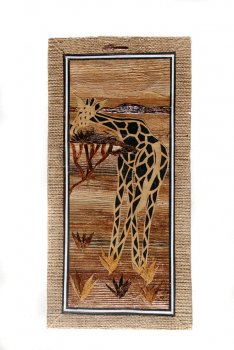 Giraffe and Acacia Tree Banana Art