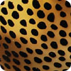Cheetah Print Painted Cow-Horn Soap Dish