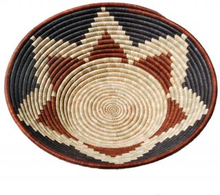 Six-Point Star Natural Dye Banana Fiber Basket