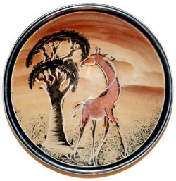 Small Giraffe and Acacia Tree Soapstone Bowl