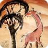 Small Giraffe and Acacia Tree Soapstone Bowl