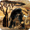 Elephant and Acacia Tree Banana Art