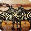 Embracing Zebras Banana Art