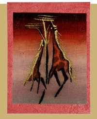 """Giraffe"" Blank Greeting Card"