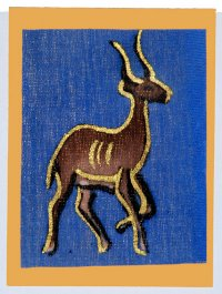 """Antelope"" Blank Greeting Card"