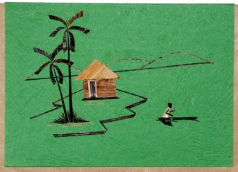 """Village Scene"" Blank Greeting Card"