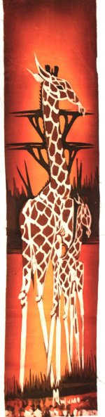 Mother Giraffe with Calf Batik