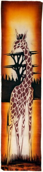 Giraffe and Acacia Trees Batik