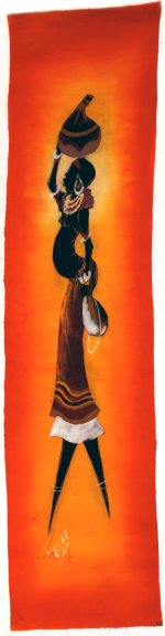 Woman Carrying Goard Batik