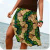 Green and Turquoise Funky Skirt
