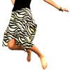 Zebra Print Funky Skirt