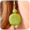 Kazuri Green Circle Earrings