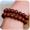Kazuri Beaded Memory-Wire Bracelet