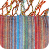 Bright-colored Striped Kenyan Scarf