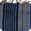 Blue and Grey Striped Kenyan Scarf