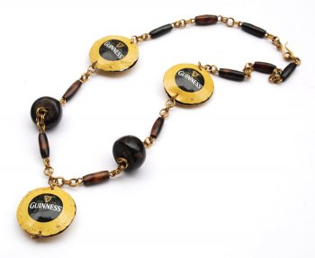 Flat Re-cap Necklace - Guinness