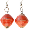 One Bead Paper Earrings