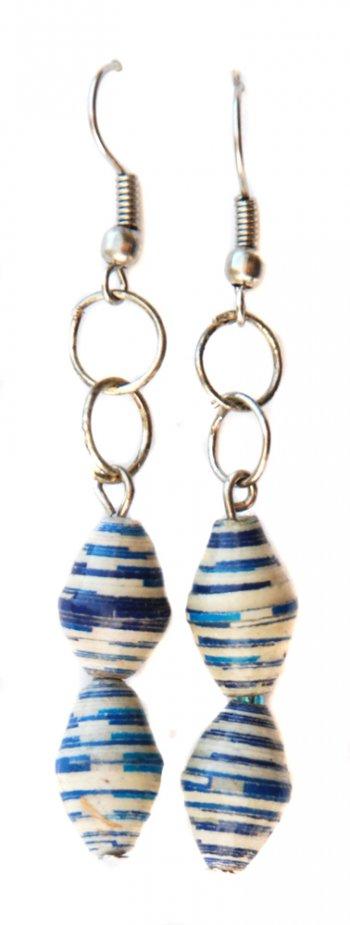 Two Bead Paper Earrings