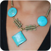 Turquoise and Antique Bead Necklace
