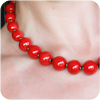 "Kazuri 18"" Perfect Red Mini Tango Necklace"