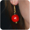 Kazuri Perfect Red Earrings