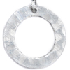One Circle Silver Earrings