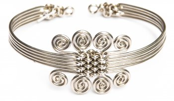 8 Spirals Woven Metal Bracelet