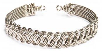 Braided Woven Metal Bracelet