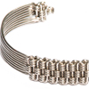 Rectangle Woven Metal Braceletq