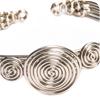 Triple Spiral Woven Metal Bracelet