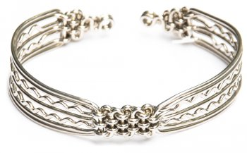 Zigzag Woven Metal Bracelet