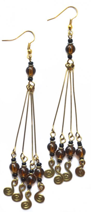 4 Long Rods Earrings