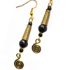 Brass Coil Earrings