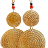 Brass Two Medallion Earrings