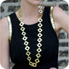 Diamond Long Metal Necklace
