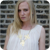Flower Chain Metal Necklace