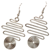 Scribble Spiral Earrings L