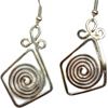 Pop-Out Spiral Earrings