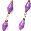 Three Bead Paper Earrings
