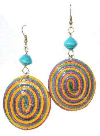 Circle Paper Earrings